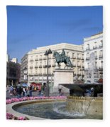 Puerta Del Sol In Madrid Fleece Blanket