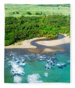Puerta Plata Coastline Fleece Blanket