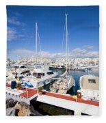 Puerto Banus Marina In Spain Fleece Blanket