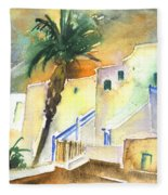 Puerto Carmen Sunset In Lanzarote 03 Fleece Blanket