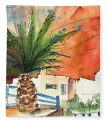 Puerto Carmen Sunset In Lanzarote Fleece Blanket