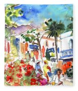 Puerto Mogan 10 Fleece Blanket