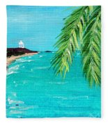 Puerto Plata Beach  Fleece Blanket