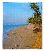 Puerto Rico Beach Fleece Blanket