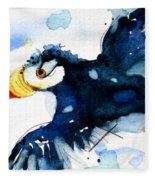 Puffin Flight Fleece Blanket