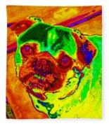 Pug Portrait Pop Art Fleece Blanket