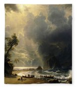 Puget Sound On The Pacific Coast Fleece Blanket