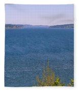 Puget Sound Panoramic Fleece Blanket