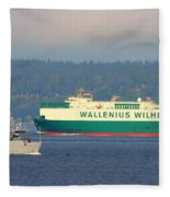 Puget Sound Shipping Waterway Fleece Blanket