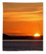 Puget Sound Sunset - Washington Fleece Blanket