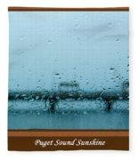 Puget Sound Sunshine Fleece Blanket