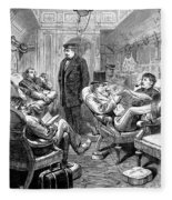 Pullman Car, 1876 Fleece Blanket