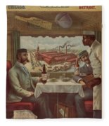 Pullman Compartment Cars Ad Circa 1894 Fleece Blanket