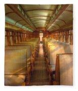 Pullman Porter Train Car Fleece Blanket
