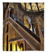 Pulpit In The Aya Sofia Museum In Istanbul  Fleece Blanket