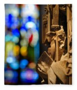 Pulpit Trinity Cathedral Pittsburgh Fleece Blanket