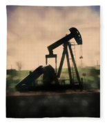 Pumpin Oil Fleece Blanket