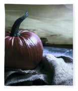 Pumpkin At Sunset Fleece Blanket