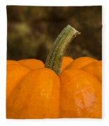 Pumpkin Macro 4 A Fleece Blanket