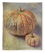Pumpkin Textures Fleece Blanket