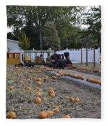 Pumpkin Train Fleece Blanket