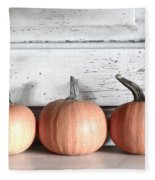 Pumpkin Trio Fleece Blanket