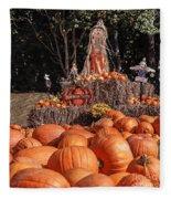 Pumpkins For Sale Fleece Blanket
