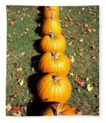 Pumpkins In A Row Fleece Blanket