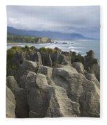 Punakaiki Pancake Rocks Fleece Blanket