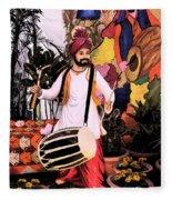 Punjabi Dhol Fleece Blanket
