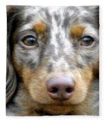 Puppy Dog Eyes Fleece Blanket