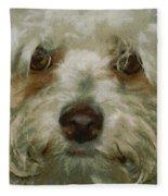 Puppy Eyes Fleece Blanket