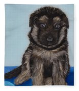 Puppy - German Shepherd Fleece Blanket