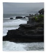 Pura Tanah Lot Bali Indonesia Fleece Blanket
