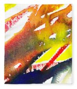 Pure Color Inspiration Abstract Painting Linea Forces Fleece Blanket