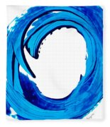 Pure Water 312 - Blue Abstract Art By Sharon Cummings Fleece Blanket