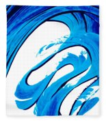 Pure Water 315 - Blue Abstract Art By Sharon Cummings Fleece Blanket