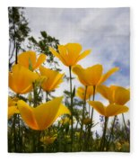 Purely Poppies  Fleece Blanket