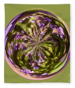 Purpble Wildflower Orb Fleece Blanket