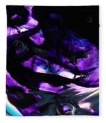 Purple Abstract Fleece Blanket