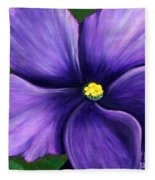 Purple African Violet Fleece Blanket