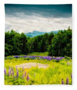 Purple And Mountains And Majesty Fleece Blanket