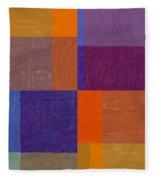 Purple And Orange Get Married Fleece Blanket
