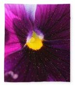 Purple And Pollen Fleece Blanket