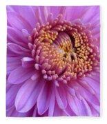 Purple Autumn Mum Fleece Blanket