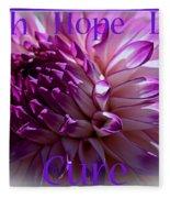 Purple Awareness Support Fleece Blanket