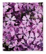 Purple Beauty Phlox Fleece Blanket