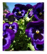 Purple Blooms Fleece Blanket