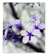 Purple Blossoms Fleece Blanket