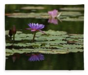 Purple Blossoms Floating Fleece Blanket